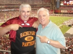Tom and Ralph at a Packer/Cardinals game in AZ