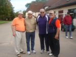 Art Simmons, Russ Gladyes, Tom Christiansen & Skip Foster before the golf scramble.