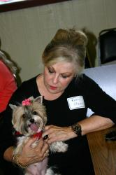 Kathy O and her Yorkie